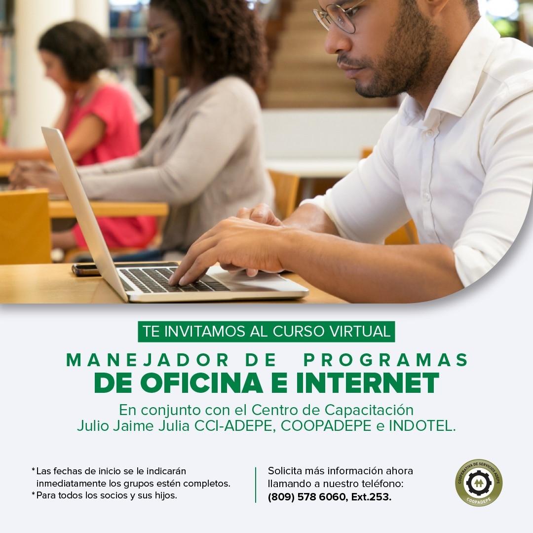 CURSO VIRTUAL MANEJADOR DE PROGRAMAS DE OFICINA E INTERNET